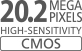 20,2 Megapixel CMOS-Sensor