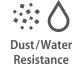 Staub- und Spritzwasserschutz